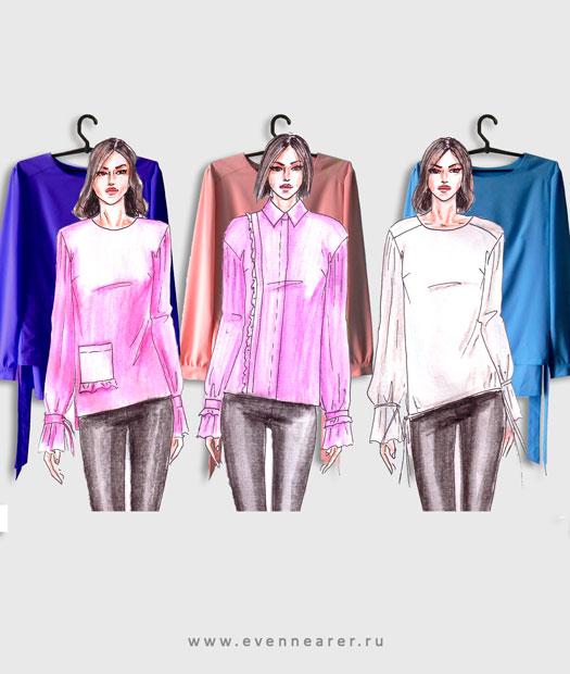 Дизайн женской блузки