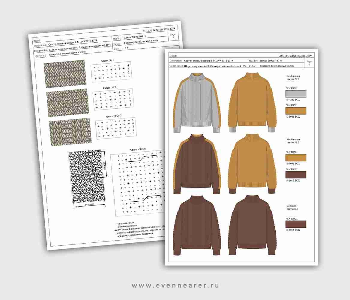 дизайн вязаной одежды